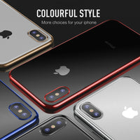 Ultra Thin Transparent Color Slim TPU Back Case For iPhone XS MAX XR X
