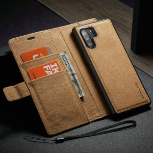Detachable Kraft paper Leather Wallet For Galaxy Note 10 Note 10 Plus