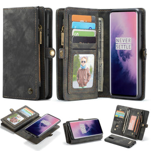 Flip Leather Wallet On Cover Phone Bag Case for Oneplus 7 Pro / One Plus 7 7Pro