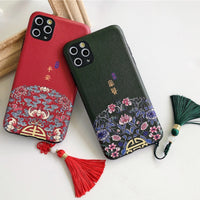 Chinese Style Tassel Patterned Soft Shell Coque Anti Knock Cover Case For iPhone 11 Pro Max