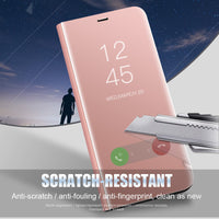 Clear View Mirror Case For Samsung Galaxy S9 S8 Plus S7 Note 8