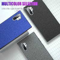 Shockproof Soft Silicone Protective Fabric Cloth Case for Samsung Note 10