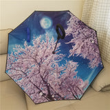 Double Layer Windproof Rainy Sunny Umbrella Especially For Car Drivers