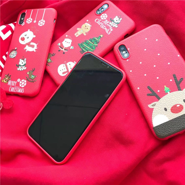 Christmas Phone Case Iphone 7.Cute Christmas Phone Case For Iphone X Xs Max Xr 8 Plus