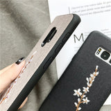 3D Embroidery Flower Phone Case For Samsung Galaxy S10 S10 Plus S10e S9 S9 Plus S8 Plus Note 9 Note 8