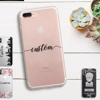 DIY Name Custom Design Print Case Cover For iPhone Soft Silicone TPU Coque Capa