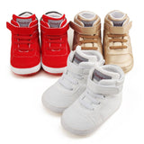 Spring Frosted Texture Soft Bottom Baby Shoes Cotton Shoes Keep Warm Lace Up First Walkers