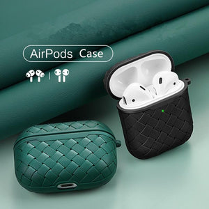 Luxury Imitation PU Silicone Protective Leather Case for Airpods