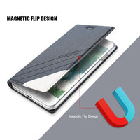 For iPhone X XR XS 6 S 7 8 Plus Magnetic Wallet Card Slot Pouch