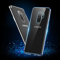Plated Case For Samsung Galaxy S9 Plus S9 Transparent TPU Shockproof