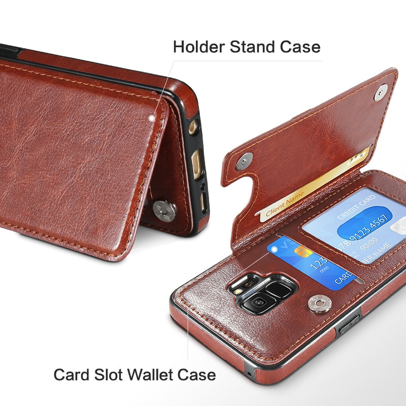 hot sale online da81d 1a779 Business Luxury Leather Case For Samsung Galaxy S9 Plus Note 8