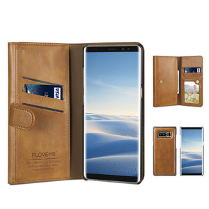 Retro PU Leather Case For Samsung Galaxy S8 S8 Plus Note 8