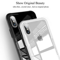 Tempered Glass Phone Case For iPhone X XS Max Transparent