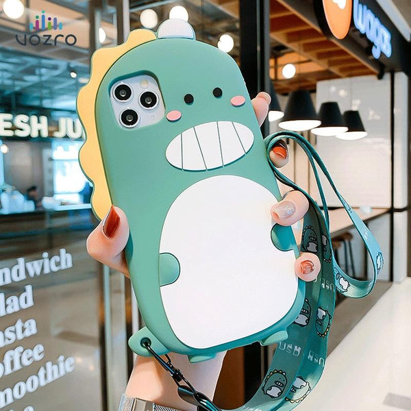 Cartoon Silicone Case For iPhone 11 Series
