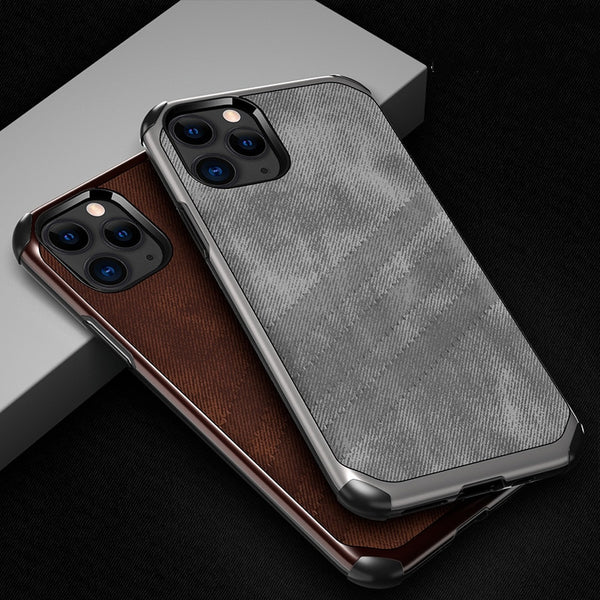 TPU Bumper Shockproof Armor Fabric Cloth Texture Case For iPhone 11 Series