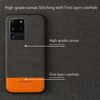 Fabric Magnetic Anti-knock Case For Samsung S20 Series