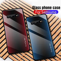 New Fashion Gradient Tempered Glass For Samsung Galaxy S10 S9 S8 Plus Note 8 9 10