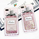 Fashion Luxury Girl Pink Bling Perfume Bottle Phone Case For X iPhone 7/8 plus 6plus