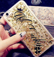 Cute Exclusive Customize Name Personal Glitter soft phone case For 5s SE 6s 7 8 X