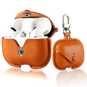 PU Leather Earphone Protective Pouch with Buckle for Apple Airpods Pro 3