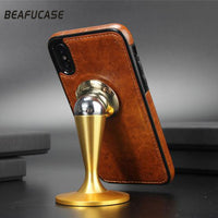 Leather Business Luxury Style Case For Apple iPhone X