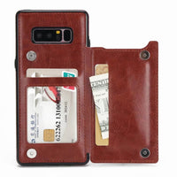 Samsung Galaxy Note 8 Leather Case With Card Holder Kickstand