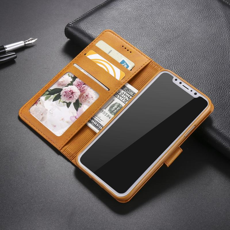 Leather Flip Wallet Luxury Phone Cases For iphone X