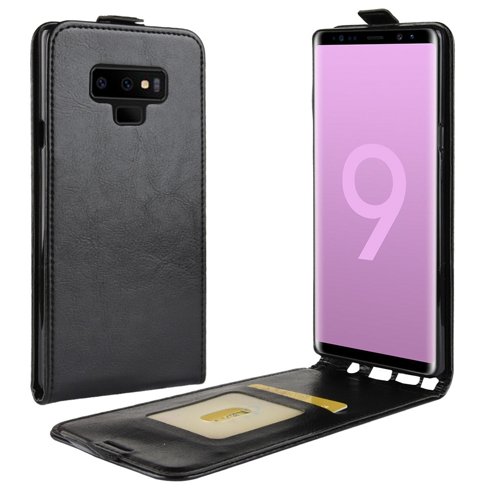 the latest 7425a d993b Flip Vertical Cover Bag For Samsung Galaxy Note 8 Note 9 S8 S9 Plus