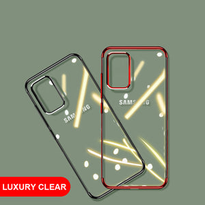 Luxury Laser Plating Soft Clear Shockproof Case For Samsung Galaxy S20 Series