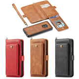 For Samsung Galaxy S9 S9 Plus Note 9 Genuine Retro Handbag Leather Wallet Phone Case