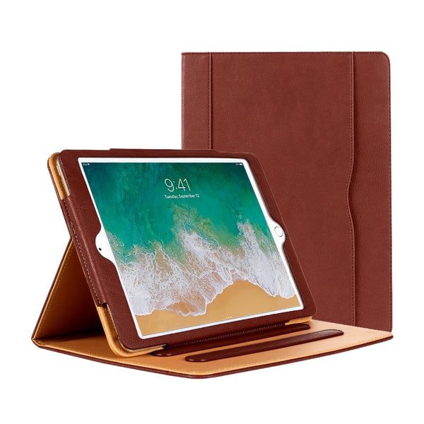 For iPad 9.7 Inch 2018/2017 Case Premium PU Leather Auto Wake/Sleep