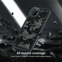 Camouflage Pattern Cloth Anti-Water Splashing Back Case For iPhone 11 Pro Max