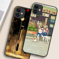 Vintage Soft Silicone Painted Protective Case For iPhone 11 Series