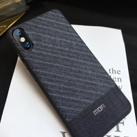 Business Suit Cloth Style Fabrics Case For iPhone X XS Max XR