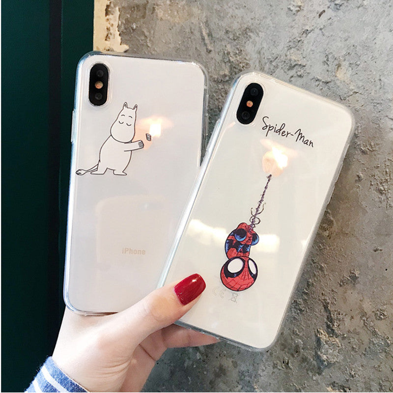 classic fit bca65 268fe Funny Cartoon Phone Case for iPhone X XS Max XR