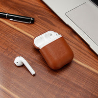 Genuine Leather Bluetooth Wireless Earphone Case For AirPods