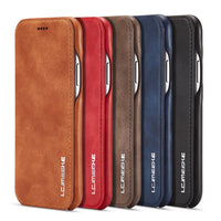 Genuine Leather Flip Cover for iPhone X 8 7 6 6S Plus