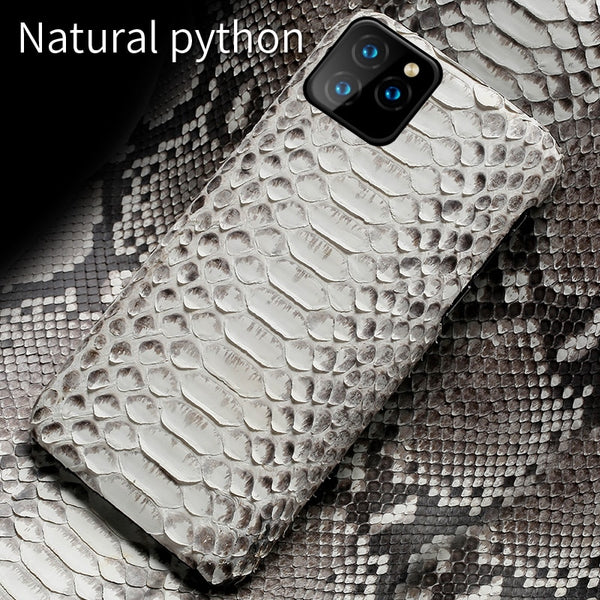 Genuine Leather Python Case Snakeskin Luxury Cover For iPhone 11 11 Pro 11 Pro Max X XS XS XSMAX