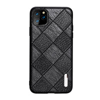 Genuine Leather Rhombus Grain All-Inclusive Thick Anti-Fall Case For Apple iPhone 11 Pro Max X XS Max XR