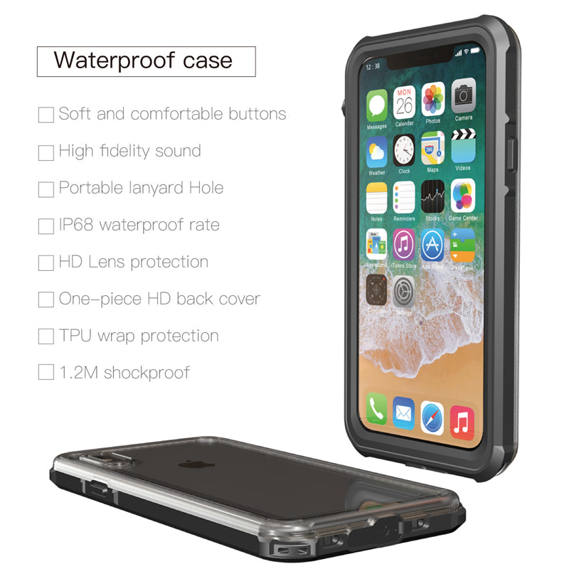 huge selection of 04b02 61e15 Waterproof Case for Iphone X Used for Swimming Diving Underwater