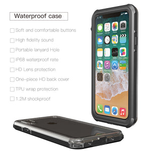 Waterproof Case for Iphone X Used for Swimming Diving Underwater