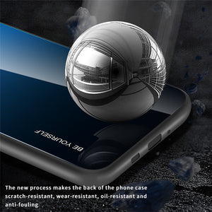 Luxury Gradient Glass Soft Silicone Edge Back Cover 360 Full Protection Case For Samsung Galaxy S20 Series