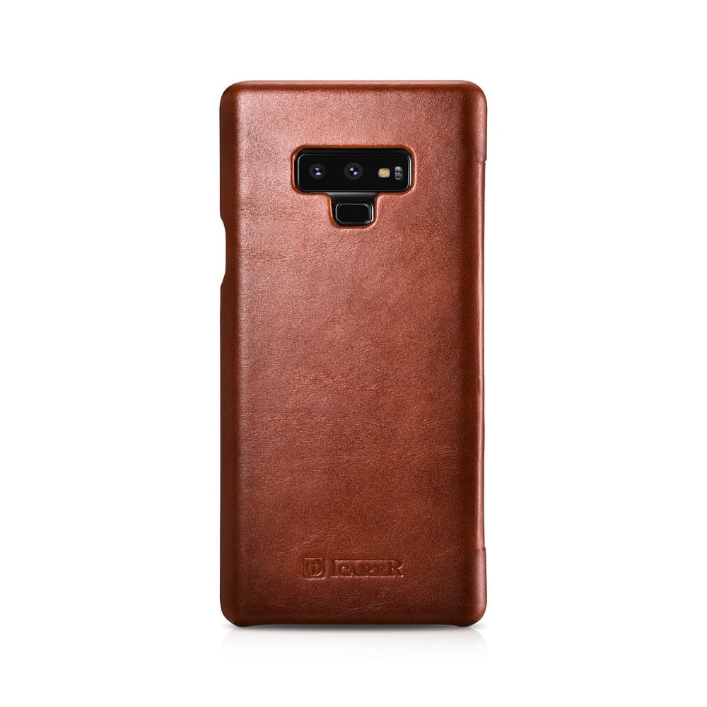 new arrival f819e 39f78 High Quality Handmade Genuine Vintage Leather Case For Galaxy Note 9