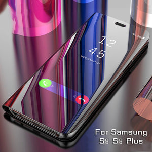 New Smart Flip Case For Samsung Galaxy S9 S9 Plus S8 Plus Note 8