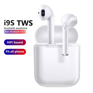 Mini Bluetooth 5.0 Wireless Earbuds Earphones with Mic Bass Stereo