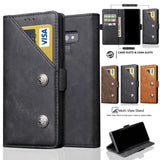 Leather Bag Case For Samsung Galaxy Note 9 Luxury Leather Book Case