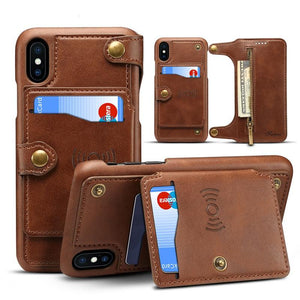 High Quality Wallet Case for iPhone X Multifunction Detachable 2 in 1