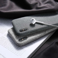 Cloth Patterned Ultra Thin Case For iPhone X