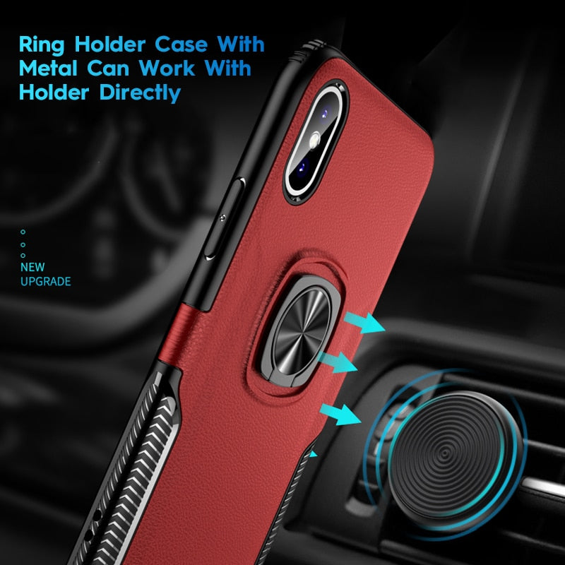 iphone xs max phone case with finger ring