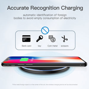 Wireless Charger 10W Qi for Samsung S9 S10+ Note 9 8 Pad 7.5W for iPhone X/XS Max XR 8 Plus